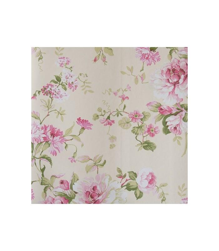 Papel pintado de flores - Papel de empapelar ...