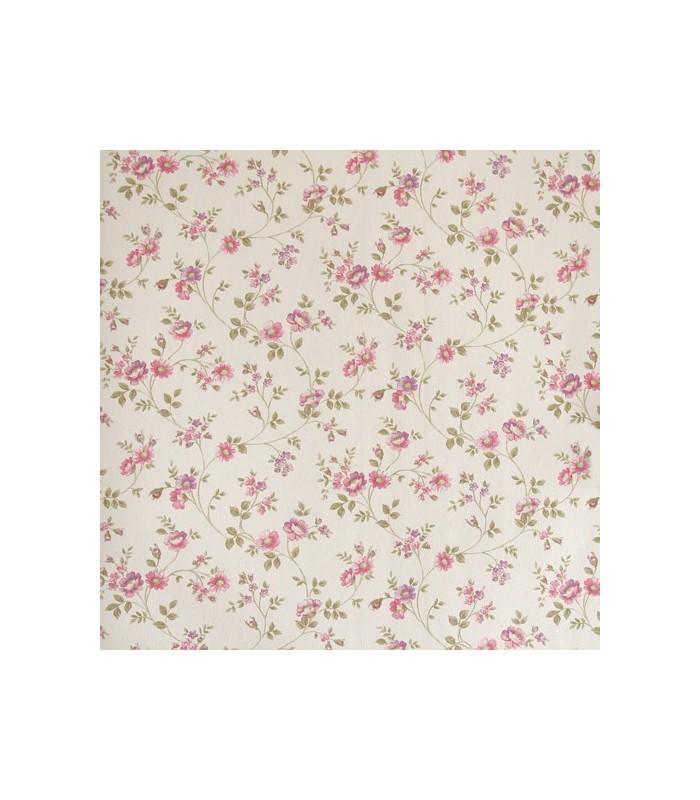 Papel pintado aromas de danslemur con flores peque as for Papel pintado rosa y gris