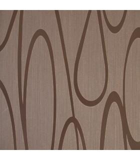 Delight seleccion flores y curvas coleccion de papel for Papel pintado marron chocolate