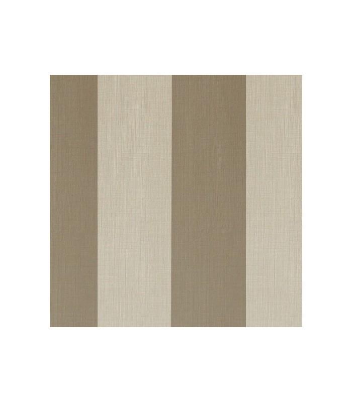 Papel pintado rayas de parati con dise os de l neas rectas anchas marr n claro y beige - Papel pintado rayas ...