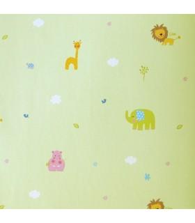 Bimbaloo selecci n animales dise os infantiles y for Papel pintado infantil barato