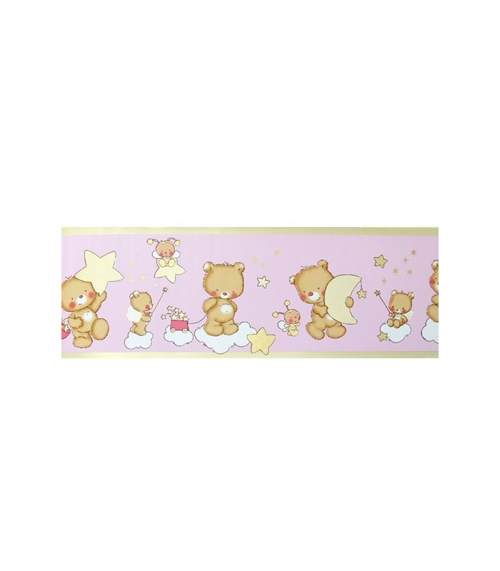 Cenefa bimbaloo 5303 coleccion bimbaloo cenefa para papel pintado infantil con dise o de osos - Cenefas papel pintado para paredes ...