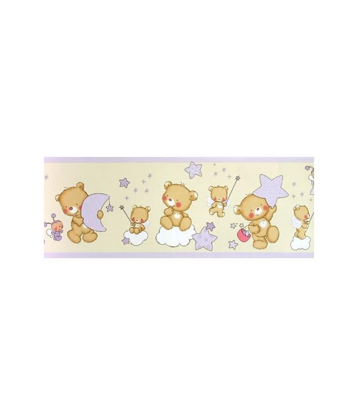 Cenefa bimbaloo 5304 coleccion bimbaloo cenefa para papel pintado infantil con dise o de osos - Cenefas infantiles para imprimir ...