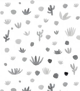 Papel pintado Pint cactus gris 35010