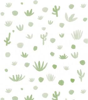 Papel pintado Pint cactus verde 35011