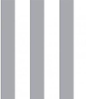 Papel pintado Pint raya gris  35040