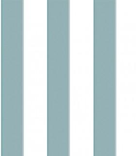 Papel pintado Pint raya azul egeo 35044