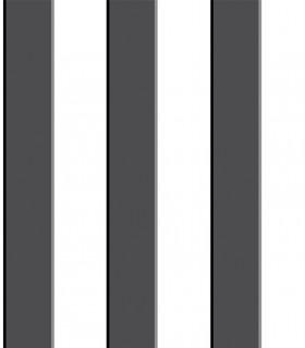 Papel pintado Pint raya negro 35046