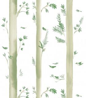 Papel pintado Pint árboles verde  35060