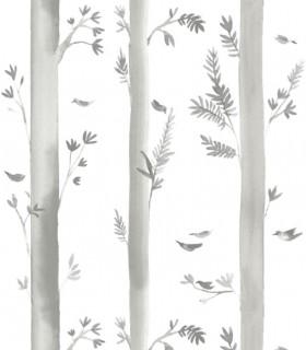 Papel pintado Pint árboles gris 35062