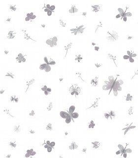 Papel pintado Pint mariposas rosas 35071