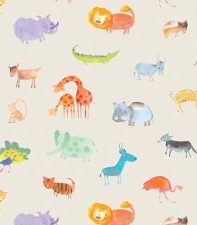 Papel pintado Pint safari beige 35101