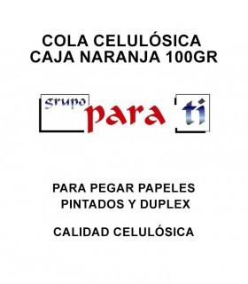 Cola celulósica caja naranja 100gr