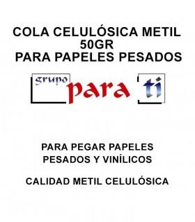 Cola celulósica Metil 50gr para papeles pesados