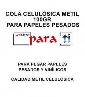 Cola celulósica Metil 100gr para papeles pesados